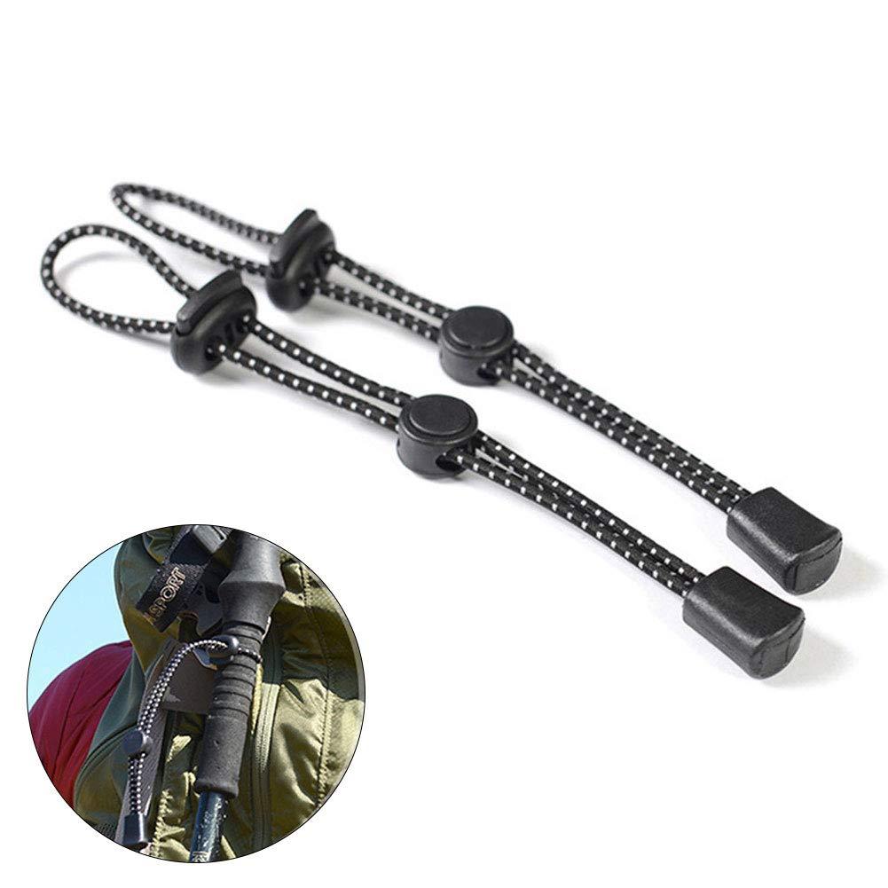 NANAD Hebilla de Cuerda para Mochila con Hebilla Escalada Senderismo para Acampar Ajustable el/ástica 2 Unidades Resistente Multiusos
