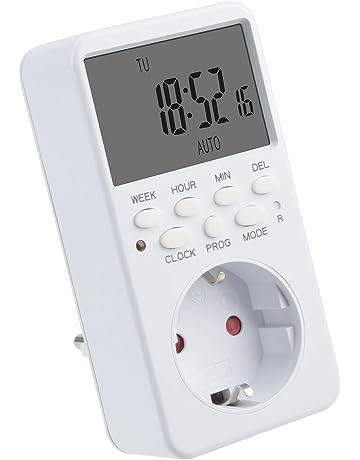 NICREW Temporizador Digital Programable, Enchufe Programable con Pantalla LCD, Temporizador Enchufe 20 Programas,