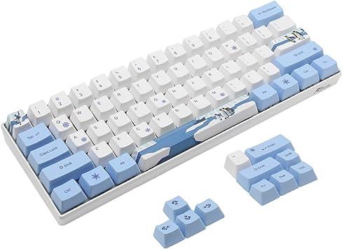 Juego de PBT Keycaps OEM para 60% Teclado Mecánico MX de Diseño ANSI Teclas para GH60 RK61 / ALT61 / Annie/Poker GK61 GK64 (Pingüino)