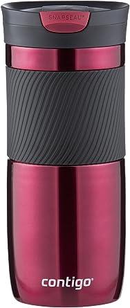 Contigo SnapSeal Byron Vacuum-Insulated Stainless Steel Travel Mug, 16 oz, Vivacious