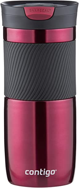 Contigo SnapSeal Byron Vacuum-Insulated Stainless Steel Travel Mug, 16 oz, Vivacious