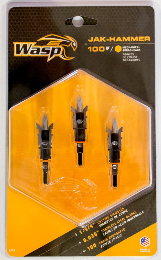 Wasp Jak-Hammer 100 SST 1 3/4'' Cutting Diameter Broadhead