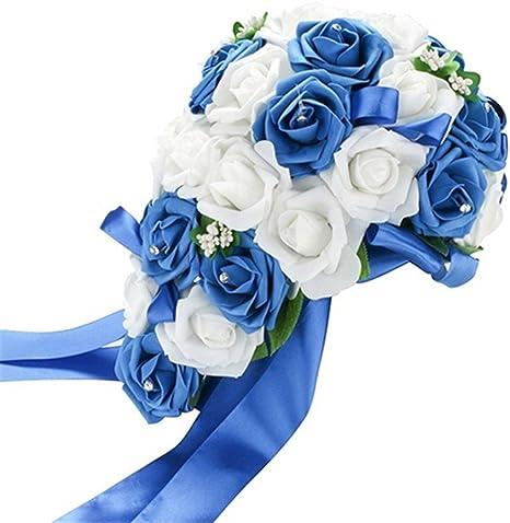 Bouquet Sposa Unica Rosa.Tangbasi Romantico Bouquet Da Sposa In Schiuma Rosa Bouquet Di