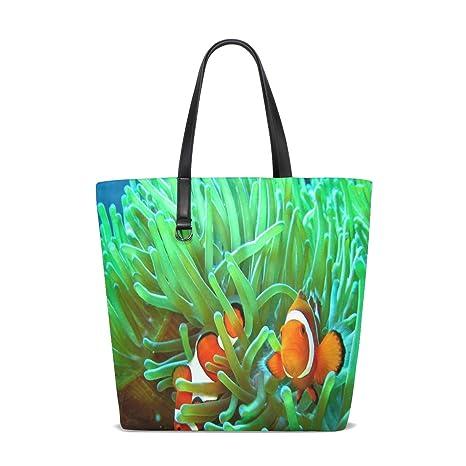 Amazon.com | Clownfish Beauty Tote Bag Purse Handbag Womens ...