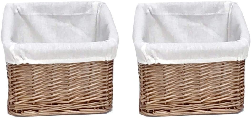 Big Huge Deep Children Kids Baby Nursery Storage Wicker Basket Toy Box Organiser White Large: 46.5x33x26cm