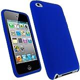 igadgitz Azul Case Silicona Funda Cover Carcasa para Apple iPod Touch 4ª Gen + Pantalla Protector