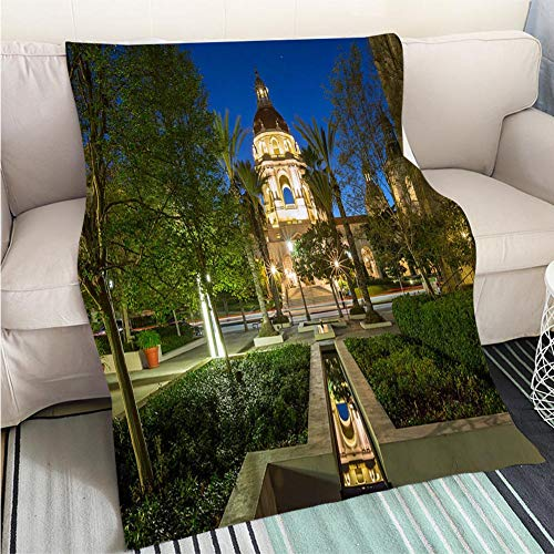 - BEICICI Super Soft Flannel Thicken Blanket The Beautiful Pasadena City Hall Near Los Angeles California Fun Design All-Season Blanket Bed or Couch