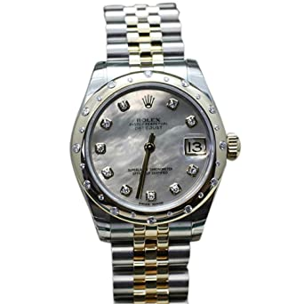 30885643ac7 Image Unavailable. Image not available for. Color  Rolex Datejust 31 White  mother-of-pearl set Diamond Dial ...