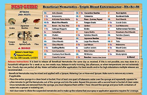 NaturesGoodGuys 30 Million Live Beneficial Nematodes Hb+Sc+Sf by NaturesGoodGuys (Image #2)