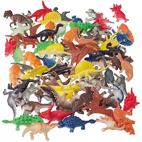 Prextex Box of Mini Dinosaurs (72 Count) Best for Cake Toppers by Prextex (Image #3)