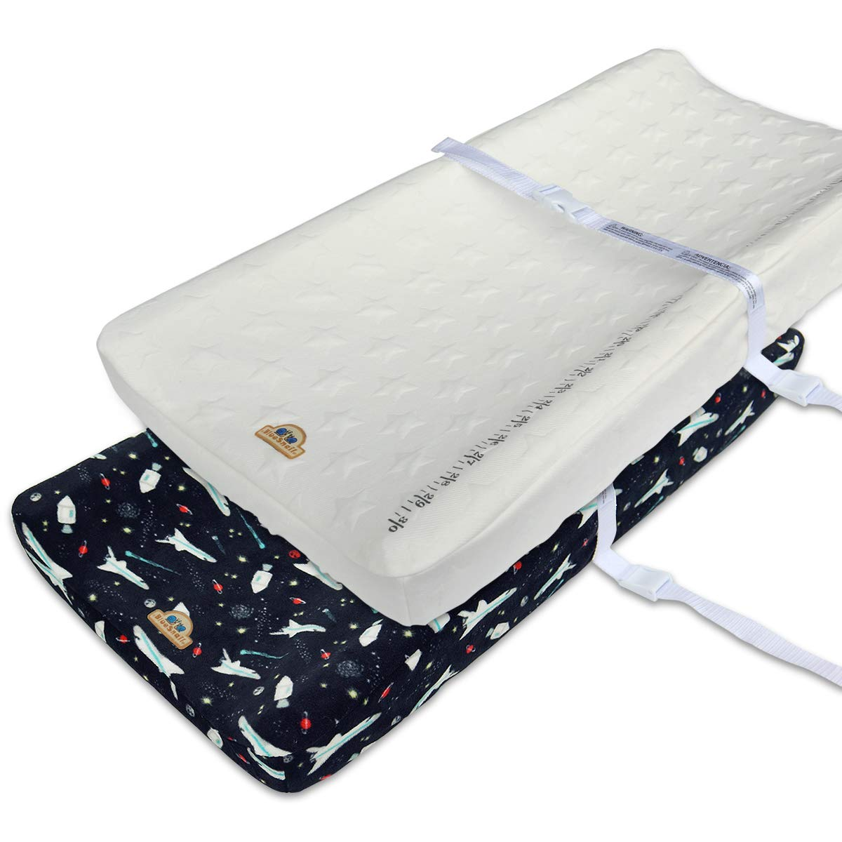 Shaoxing Limeipark Hometextile /& Garments Co red+Grey BlueSnail Plush Super Soft and Comfy Changing Pad Cover for Baby 2-Pack Ltd.