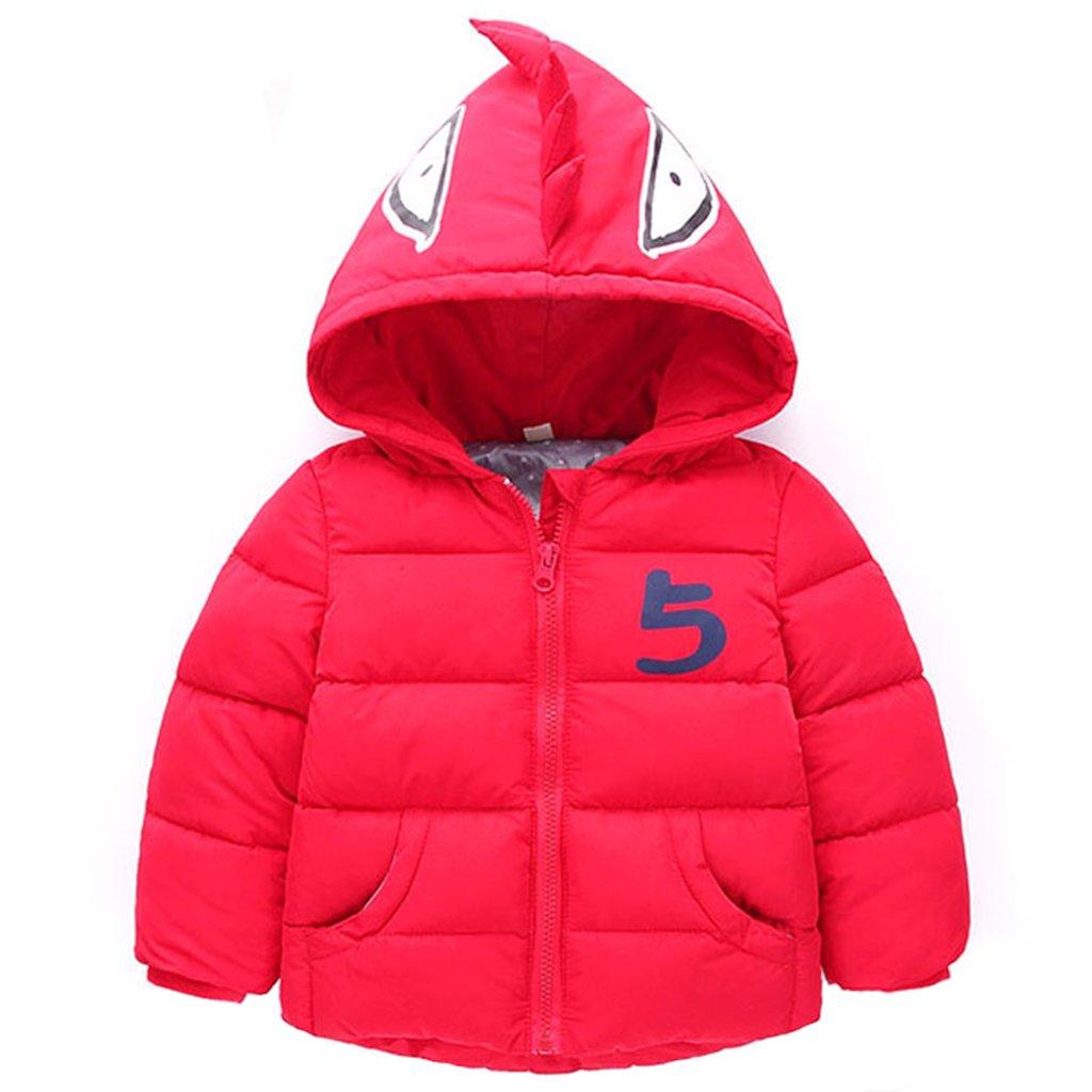 Bambino Giacche Inverno Cappotti con Cappuccio Giubbotti per Ragazzi Ragazze Denso Veste Modello Animale