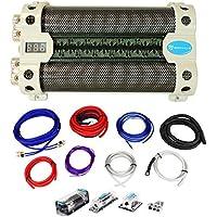 Rockville RFC30F 30 Farad Capacitor w/Voltage Display+Dual Amp Kit