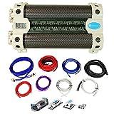 Rockville RFC30F 30 Farad Capacitor w/ Voltage Display+Dist Block+Dual Amp Kit