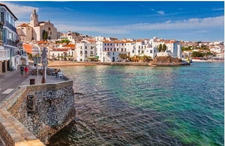 ZZXSY Puzle Madera 1000 Piezas Paisaje del Mar con Cadaqués Cataluña España Cerca De Barcelona Regalo Personalizado: Amazon.es: Hogar