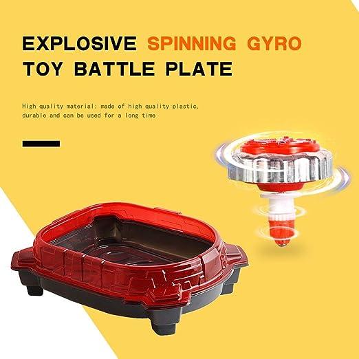 YKSO Gyro Arena Burst Stadium Blasting Gyro Toy Fighting Disc Exciting Duel Spinning Gyro Large Stadium Arena for 2-4 Player