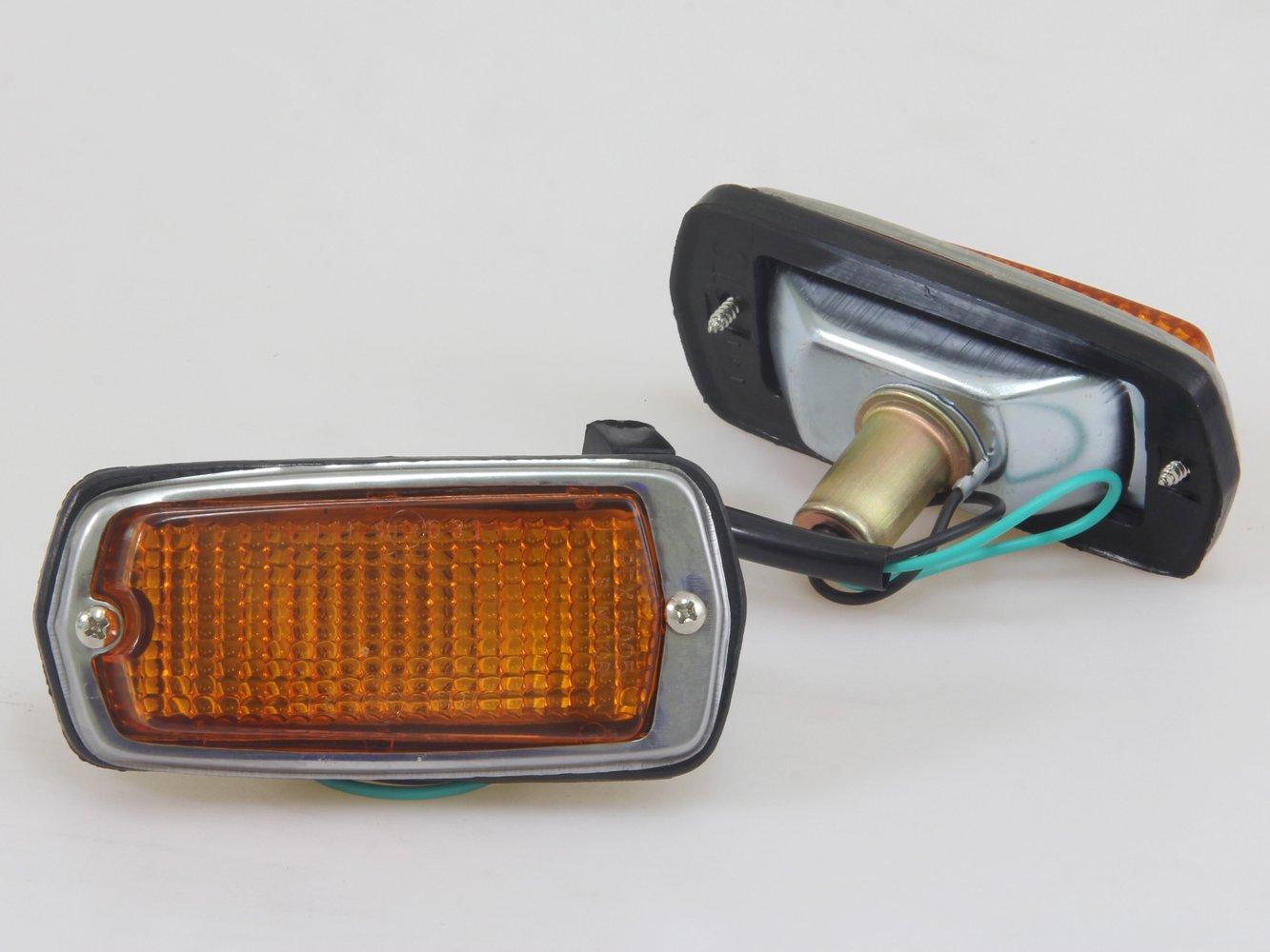 80%OFF New Amber Marker Lights Lamps Lens RH/LH Fit for