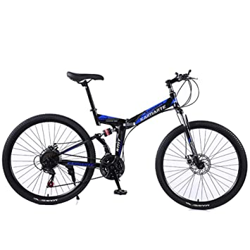 KASIQIWA Bicicleta Plegable de Velocidad de montaña, Rueda de 26 ...