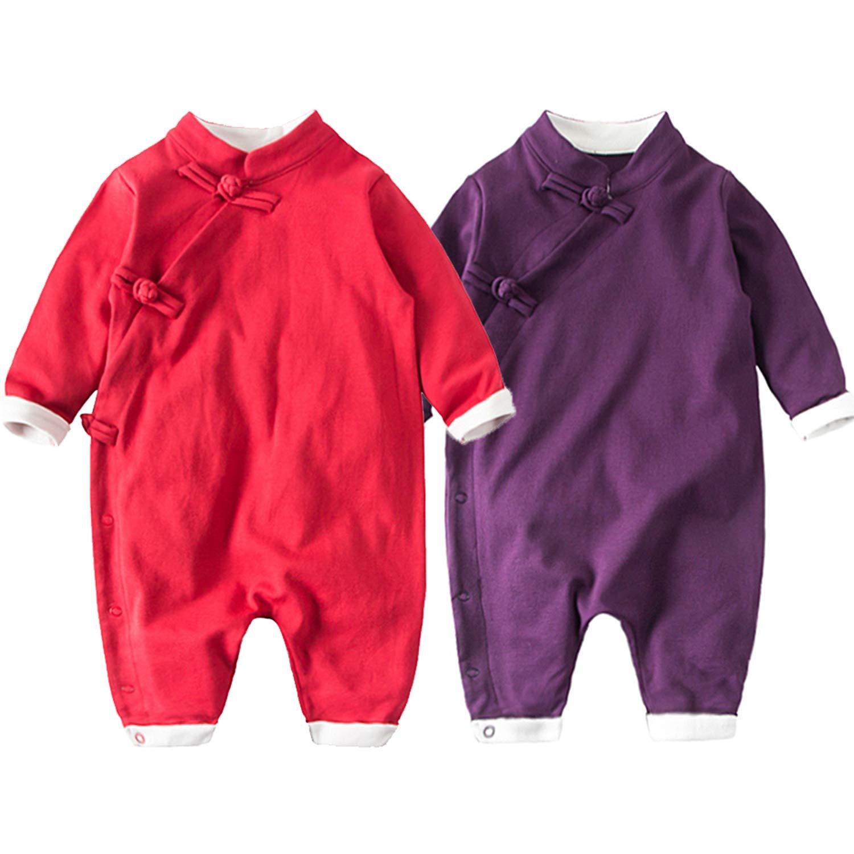 ce28f99202da Amazon.com  2-Pack 0-18M Lycra Fabric Baby Boy Romper Solid Ancient ...