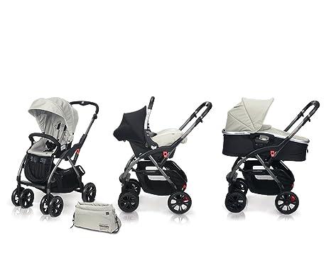 Casualplay 850106B - Cochecito Avant + portabebés Baby 0+ + capazo Newmoon, color blanco