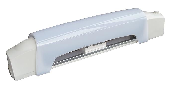 tibelec 311830 Wandleuchte Badezimmer Weiß mit LED Röhre + Schalter ...