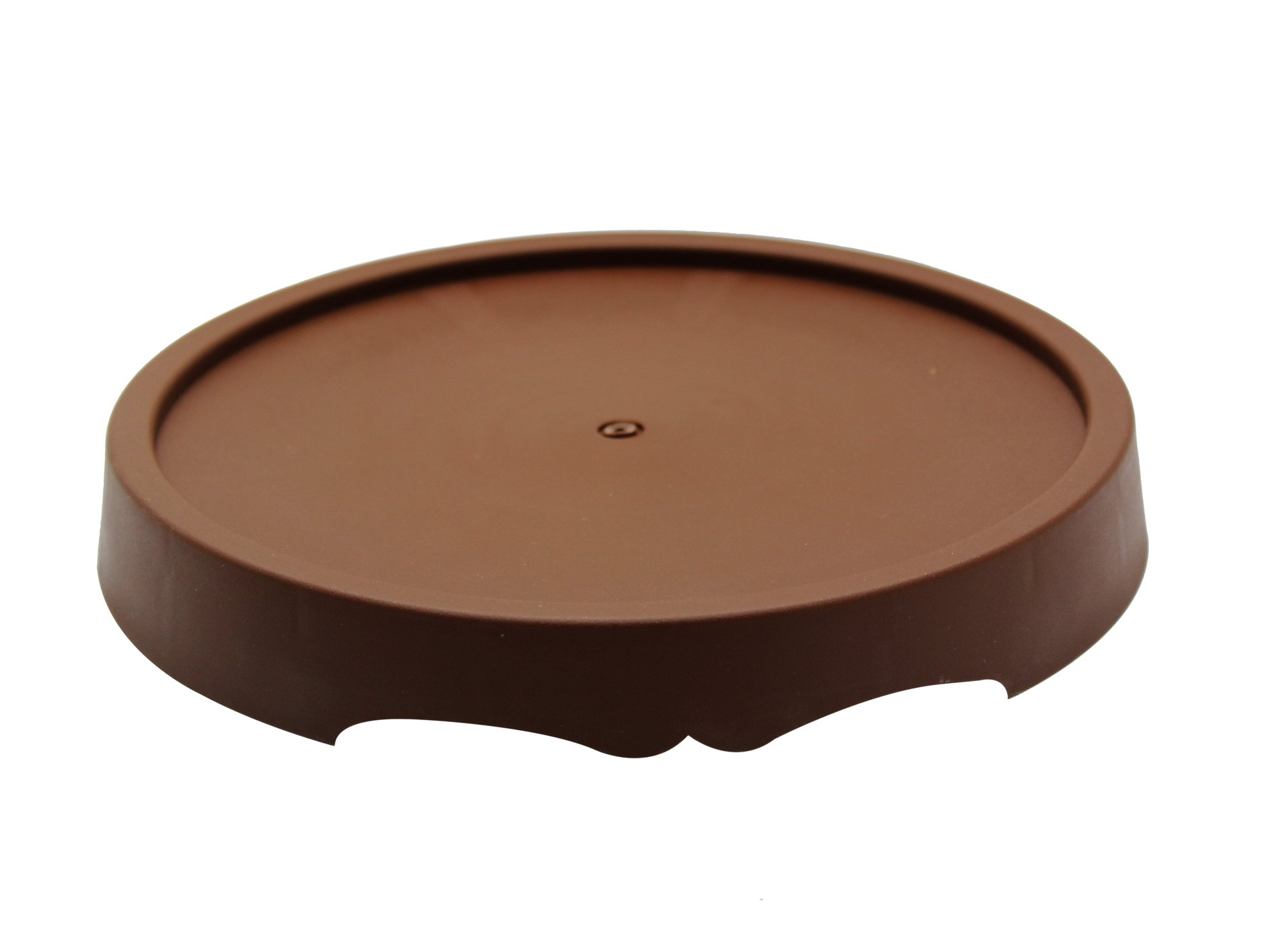 2Pcs Round Brown Plastic Plants Pot Saucer Trays,for holding Soil and Water Drips,Excellent For Indoor & Outdoor Plants. (11.0in) by coisound 1688