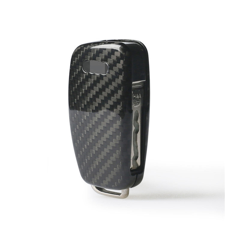 Black Genuine Carbon Fiber Cover For Audi A1 Audi A3 Audi A6L Audi Q3 Audi S3 Audi S6 Folding Fob Remote Key Mens Car Key Fob Case Womens Fob Cover 100/% Carbon Fiber Case For Audi Key Fob