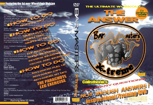 Barmasters Xtreme The Answer DVD VOL. 2 (The Ultimate Full Body Workout w/ own Body Weight) (Xtreme Motivation)