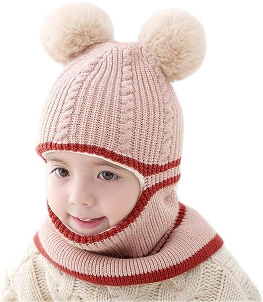 Rgslon Baby Toddler Warm Knit Hats Cotton Beanies Caps for Boys Girls