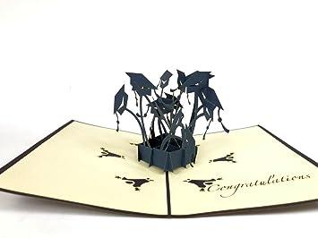 Visitenkarten Kalender, Planer Und Karten 3d Handgemachte Segelboot Pop Up Origami Papier Laser Cut Grußkarten Geburtstag Weihnachten Jahrestag Postkarten