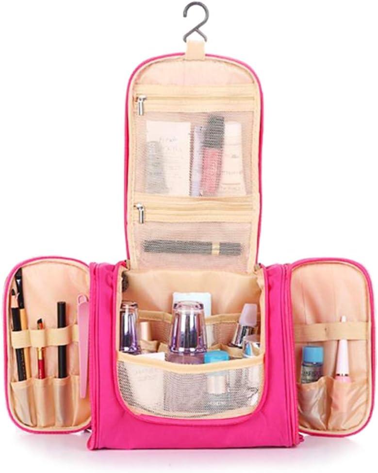 S.R HOME Bolsa Viaje de Aseo Colgante Bolsa de Cosméticos Impermeable Neceser Maquillaje con Gancho, Multifunción, Polyester, Adecuado para Hombres y Mujeres. (Rosa): Amazon.es: Hogar