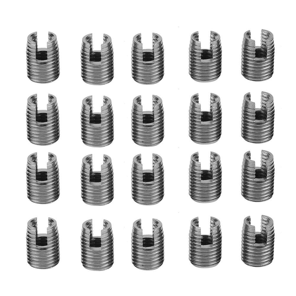Tool Thread Repair Kit,1 Set 302 Type 3-Hole SUS303 Stainless Steel Self-Tapping Screw Thread Inserts #2