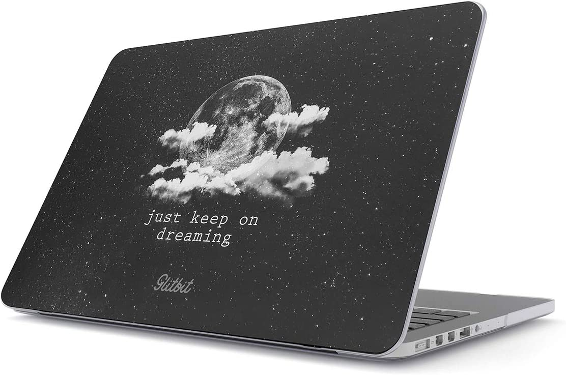 Glitbit Hard Case Cover Compatible with MacBook Pro 13 Inch Case A2289 / A2251 with or Without Touch Bar Keep Dreaming Motivational Space Galaxy Stars Moon Cosmic