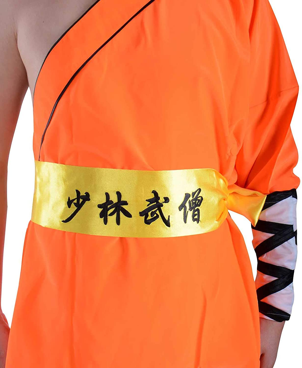 Chinese Traditional Shaolin Temple Warrior Monks Robe Martial Arts Kung Fu Uniform Training Suit Baggy Pants Belt