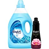 Comfort Fabric Softener Spring Dew + Comfort Concentrated Fabric Softener Charm Perfumes Deluxe, 4 Litre + 650 ml