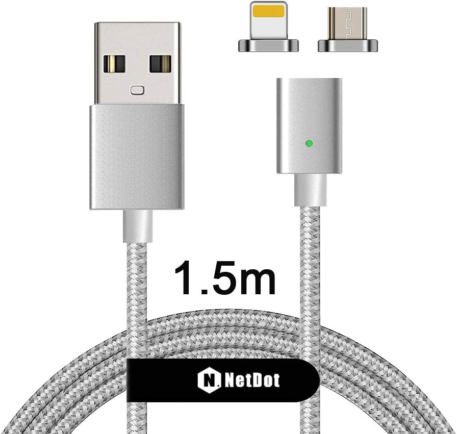 USB Lightning Cable Enchufe a lightningstecker rápidamente cargar datos /& nylon 0,3 M