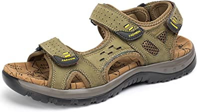 Odema Mens Summer Leather Sandals Open