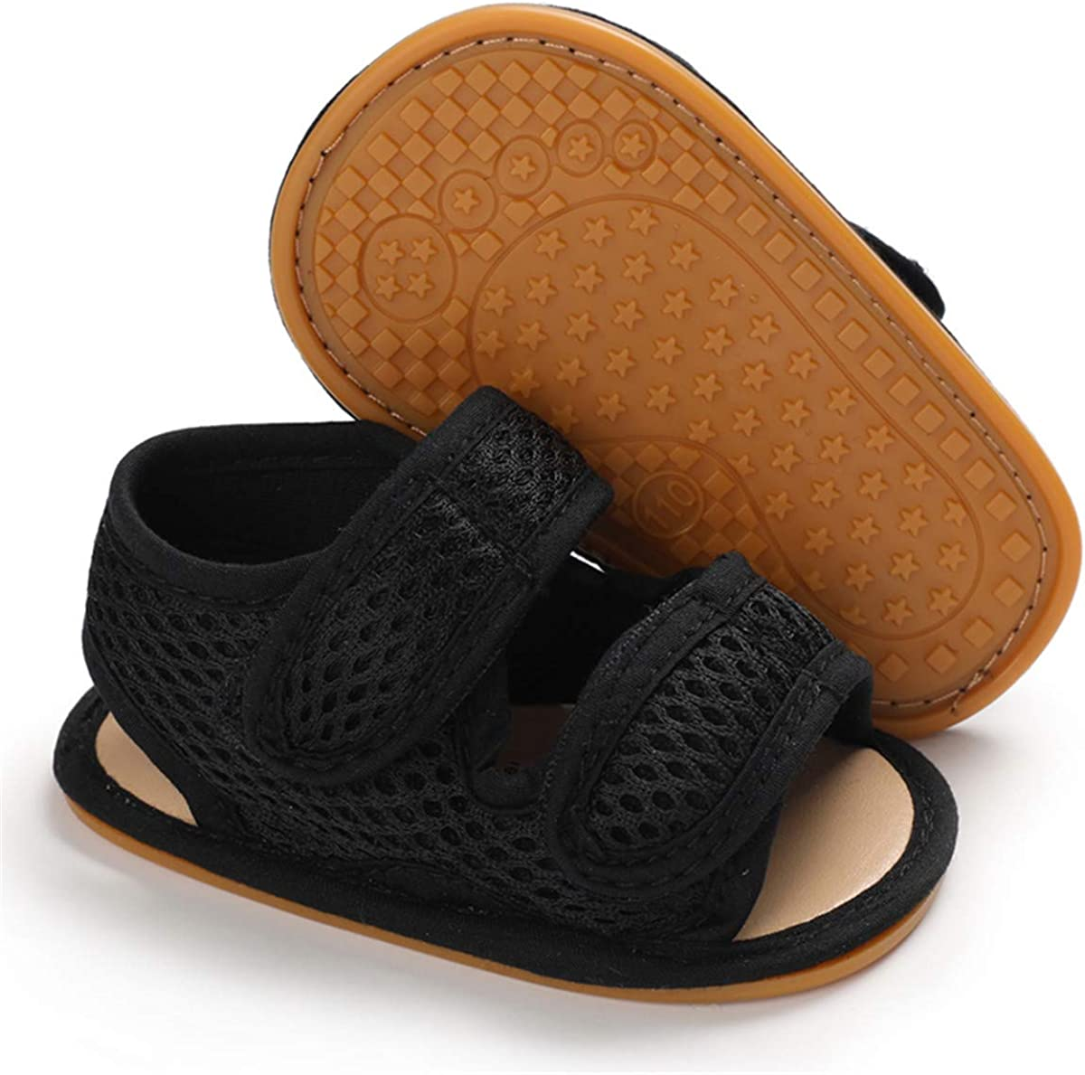 COSANKIM Infant Baby Boys Girls Summer Sandals Non Slip Soft Sole Toddler First Walker Crib Shoes(0-18 Months)