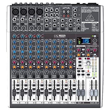 Behringer X1622USB Premium 16-Input 2/2-Bus Mixer, 24-Bit Multi-FX Processor