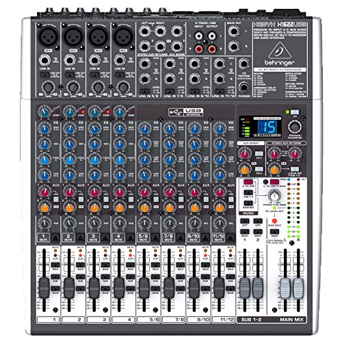 Behringer Xenyx X1622USB Premium 16-Input 2/2-Bus Mixer with USB/Audio Interface from Behringer