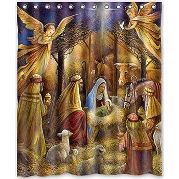 Funny Design Christmas Nativity Holy Family Tree Three Wisemen Shower