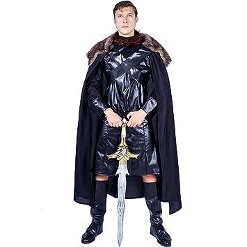 SEA HARE Disfraz de Disfraz de Medieval Black Cape para ...