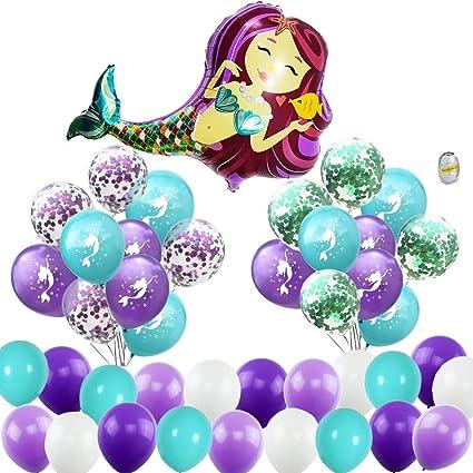 Amazon.com: Globos de sirena para fiestas, decoraciones ...