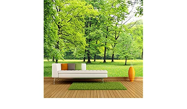YFXGSTLI Murales De Pared Mural Wallpaper Green Forest 3D ...