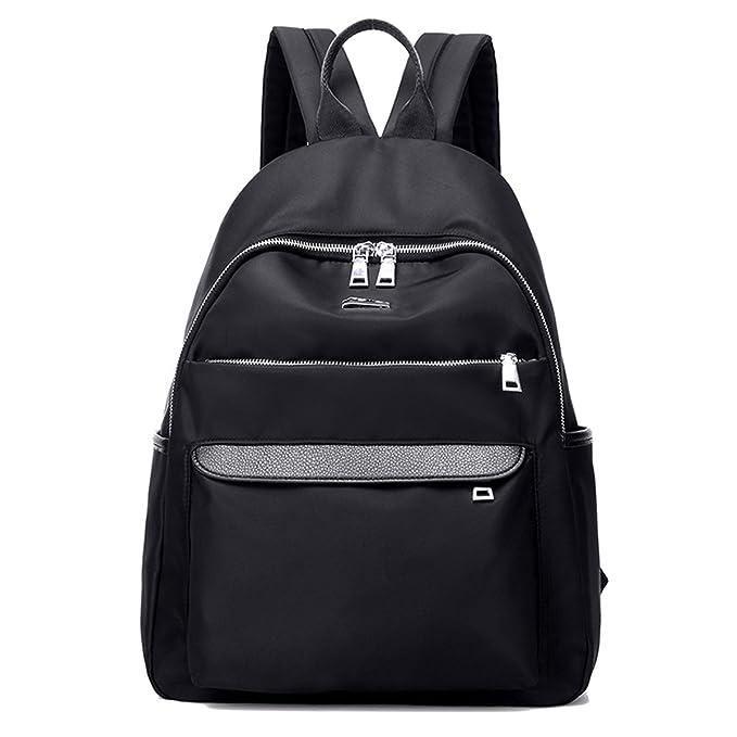 55a98fde32 Nylon Waterproof Backpack Bag Satchels - Top Handle Rucksack Lightweight  Durable Casual Fashion School Bag Purse