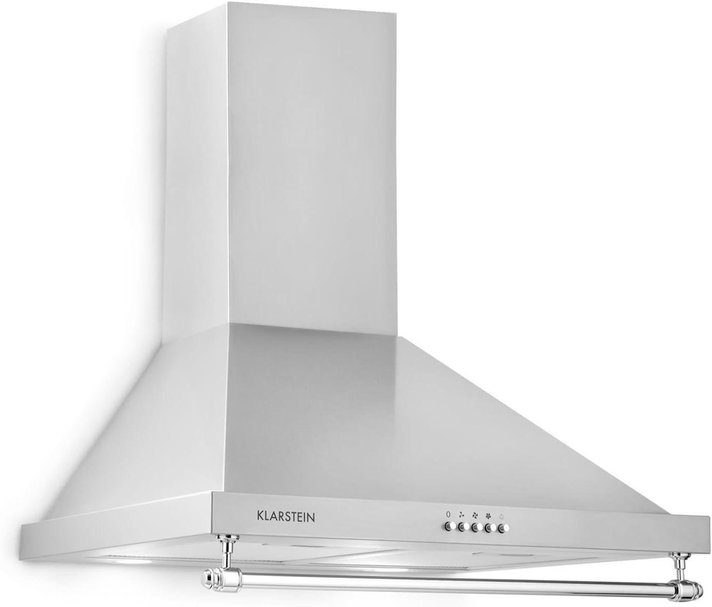 Klarstein Montblanc 60 Campana extractora de pared - Succión y circulación de aire, 3 niveles, hasta 610 m³/h, Instalación en pared, Anchura 60 cm, Filtro, Gris plateado: Amazon.es: Grandes electrodomésticos