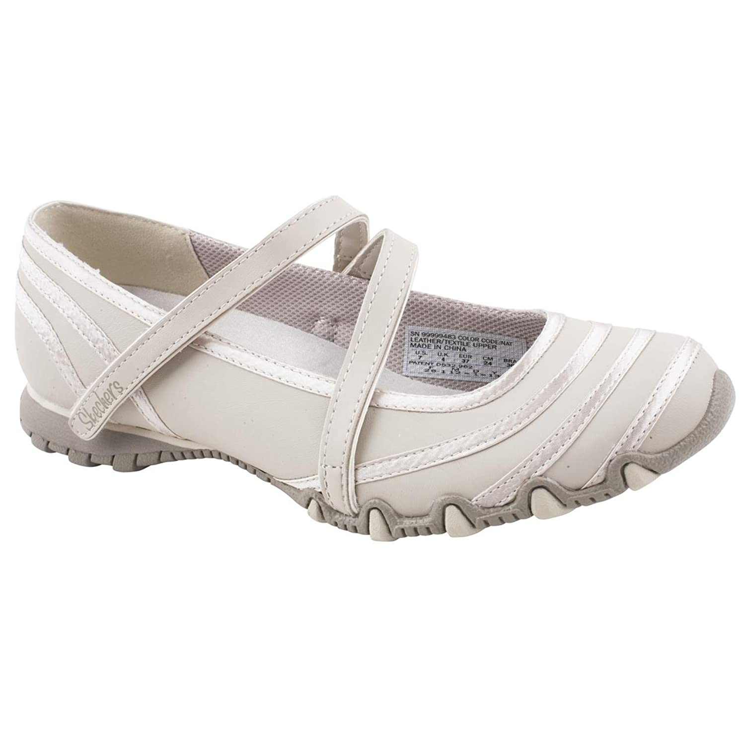Ladies Skechers Bikers Ribboneer Beige Leisure Shoes Size 8