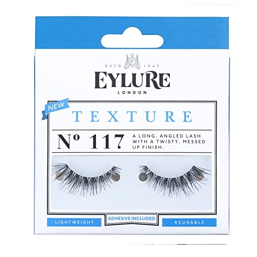 b84f9b22f02 Amazon.com : (Pack of 5 Pairs) Eylure Texture #117 False Eyelashes, Black :  Beauty