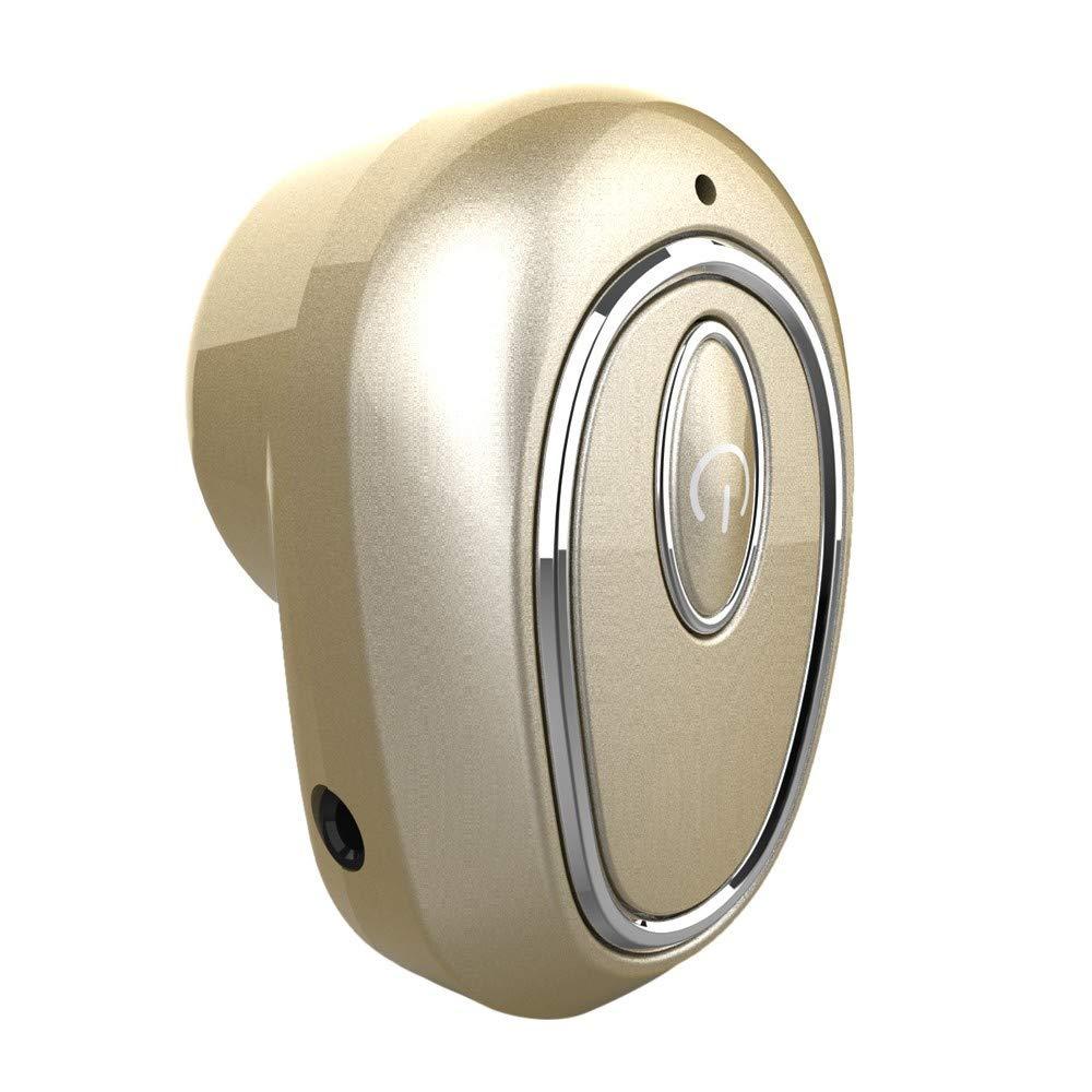 Mini Auriculares inal/ámbricos Bluetooth 4.1 Auriculares est/éreo con cancelaci/ón de Ruido en la Oreja con Auriculares para micr/ófono para Correr Deportes
