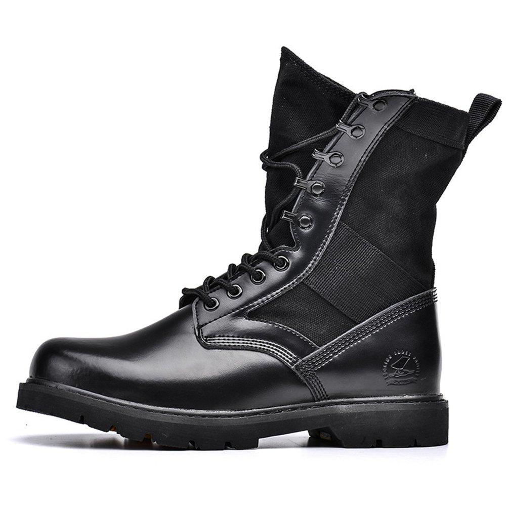 de85e0f0fd3 Amazon.com | Lianjin Men's Black Military Combat Boots Waterproof ...